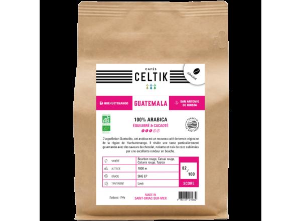 Guatemala Quetzalito café biologique en grain
